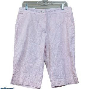 New weatherproof pink seersucker Bermuda shorts